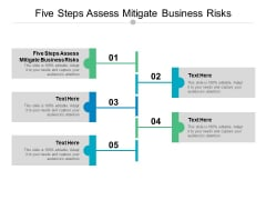 Five Steps Assess Mitigate Business Risks Ppt PowerPoint Presentation Gallery Inspiration Cpb