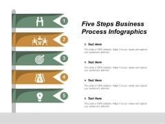 Five Steps Business Process Infographics Ppt Powerpoint Presentation Infographics Model