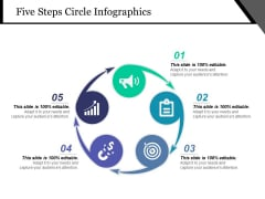 Five Steps Circle Infographics Ppt PowerPoint Presentation Slides Infographic Template