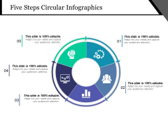Five Steps Circular Infographics Ppt PowerPoint Presentation Infographics Layouts