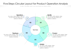 Five Steps Circular Layout For Product Operation Analysis Ppt PowerPoint Presentation File Examples PDF