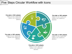 Five Steps Circular Workflow With Icons Ppt PowerPoint Presentation Show Icon