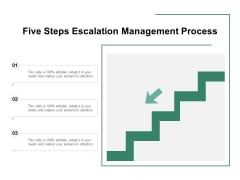 Five Steps Escalation Management Process Ppt PowerPoint Presentation Inspiration Templates