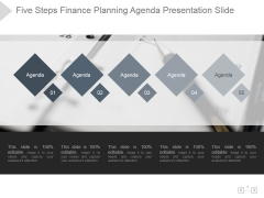 Five Steps Finance Planning Agenda Ppt PowerPoint Presentation Good