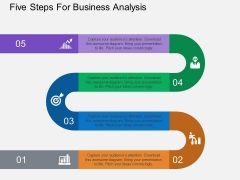 Five Steps For Business Analysis Powerpoint Template
