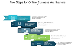 Five Steps For Online Business Architecture Ppt Powerpoint Presentation Gallery Graphics Template