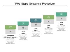 Five Steps Grievance Procedure Ppt PowerPoint Presentation Inspiration Slides Cpb