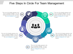 Five Steps In Circle For Team Management Ppt PowerPoint Presentation Diagram Templates