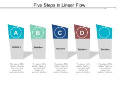 Five Steps In Linear Flow Ppt PowerPoint Presentation Outline Format Ideas