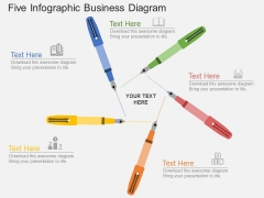 Five Steps Infographic Business Diagram Powerpoint Template