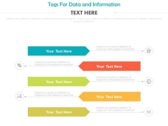 Five Steps Infographic For Information Display Powerpoint Slides