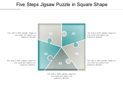Five Steps Jigsaw Puzzle In Square Shape Ppt Powerpoint Presentation Inspiration Designs Download