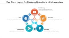Five Steps Layout For Business Operations With Innovation Ppt PowerPoint Presentation Summary Format PDF