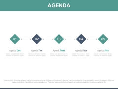 Five Steps Linear Chart For Business Agenda Powerpoint Slides