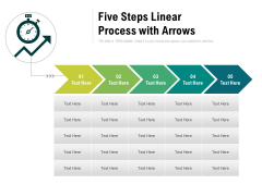 Five Steps Linear Process With Arrows Ppt PowerPoint Presentation Gallery Smartart PDF