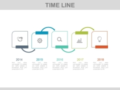 Five Steps Linear Timeline Infographic Diagram Powerpoint Slides