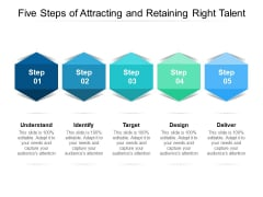 Five Steps Of Attracting And Retaining Right Talent Ppt PowerPoint Presentation Professional Example Topics
