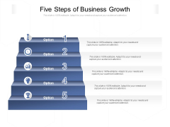 Five Steps Of Business Growth Ppt PowerPoint Presentation Layouts Tips