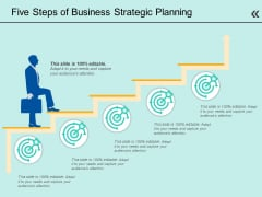 Five Steps Of Business Strategic Planning Ppt PowerPoint Presentation Styles Grid PDF