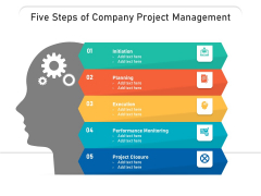 Five Steps Of Company Project Management Ppt PowerPoint Presentation File Sample PDF