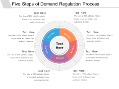 Five Steps Of Demand Regulation Process Ppt PowerPoint Presentation Gallery Example PDF