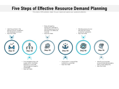 Five Steps Of Effective Resource Demand Planning Ppt PowerPoint Presentation File Pictures PDF