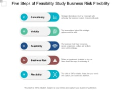 Five Steps Of Feasibility Study Business Risk Flexibility Ppt PowerPoint Presentation Infographics Brochure