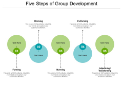 Five Steps Of Group Development Ppt PowerPoint Presentation Templates PDF