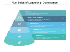 Five Steps Of Leadership Development Ppt PowerPoint Presentation Portfolio Background Designs
