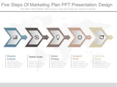 Five Steps Of Marketing Plan Ppt Presentation Design
