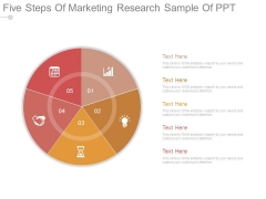 Five Steps Of Marketing Research Sample Of Ppt