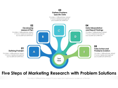 Five Steps Of Marketing Research With Problem Solutions Ppt PowerPoint Presentation Outline Good PDF