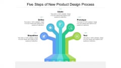 Five Steps Of New Product Design Process Ppt Styles Demonstration PDF