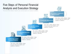 Five Steps Of Personal Financial Analysis And Execution Strategy Ppt PowerPoint Presentation Gallery Samples PDF