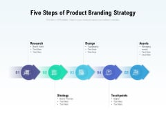 Five Steps Of Product Branding Strategy Ppt PowerPoint Presentation Outline Deck