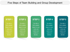 Five Steps Of Team Building And Group Development Ppt PowerPoint Presentation Pictures PDF