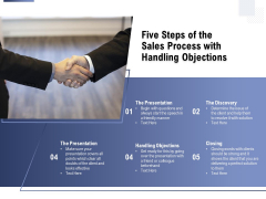 Five Steps Of The Sales Process With Handling Objections Ppt PowerPoint Presentation Ideas Deck