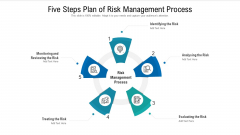 Five Steps Plan Of Risk Management Process Ppt PowerPoint Presentation Gallery Guide PDF