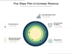 Five Steps Plan To Increase Revenue Ppt PowerPoint Presentation Ideas Diagrams