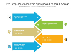 Five Steps Plan To Maintain Appropriate Financial Leverage Ppt PowerPoint Presentation Pictures Designs