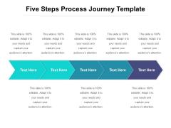 Five Steps Process Journey Template Ppt PowerPoint Presentation Portfolio Graphics PDF