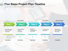 Five Steps Project Plan Timeline Ppt PowerPoint Presentation Show Rules