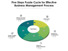 Five Steps Puzzle Cycle For Effective Business Management Process Ppt PowerPoint Presentation Infographics Slide Download PDF