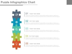 Five Steps Puzzle Infographic Chart Powerpoint Slides