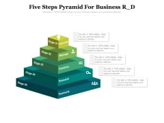 Five Steps Pyramid For Business R D Ppt PowerPoint Presentation Portfolio Backgrounds PDF