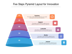 Five Steps Pyramid Layout For Innovation Ppt PowerPoint Presentation Ideas Clipart PDF