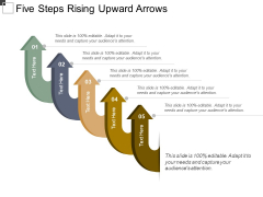 Five Steps Rising Upward Arrows Ppt PowerPoint Presentation Gallery File Formats