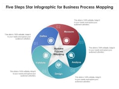 Five Steps Star Infographic For Business Process Mapping Ppt PowerPoint Presentation File Gallery PDF