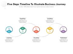 Five Steps Timeline To Illustrate Business Journey Ppt PowerPoint Presentation Icon Portfolio PDF
