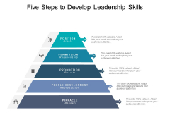 Five Steps To Develop Leadership Skills Ppt PowerPoint Presentation Icon Model